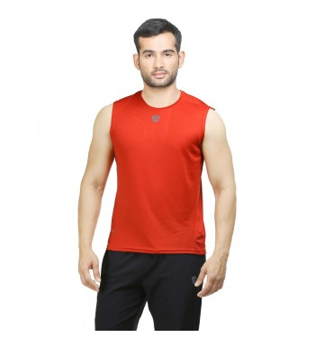 ARMR Mens Red SPORT SLEEVELESS TEE