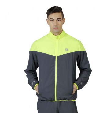 ARMR Mens Graphite/Neon Green SPORT TRAINING JACKET - V-Front