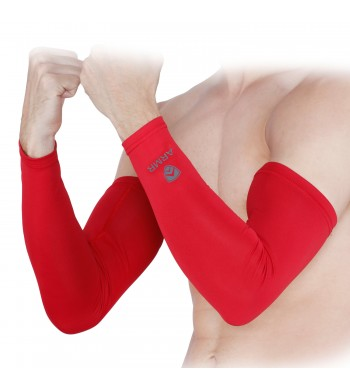 ARMR Unisex Pair of 2 RED SKYN Arm Sleeves