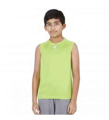 ARMR Junior Neon Green SPORT SLEEVELESS TEE