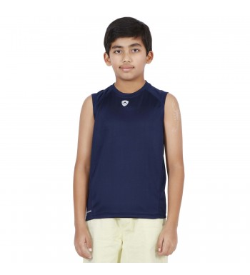 ARMR Junior Navy SPORT SLEEVELESS TEE