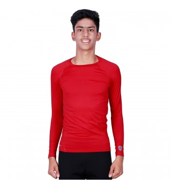 Buy ARMR Junior Unisex RED SKYN Full-Sleeve T-shirt JSKTE04 4eb32822dd4