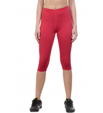 ARMR Women Coral/Grey SPORT 3/4th Capris