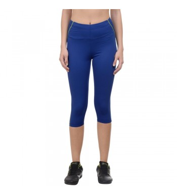 ARMR Women Turq.Blue/Neon Green  SPORT 3/4th Capris