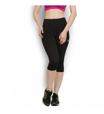 ARMR Women Black/Coral SPORT 3/4th Capris
