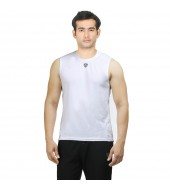 ARMR Mens White SPORT SLEEVELESS TEE