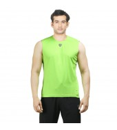 ARMR Mens Neon Green SPORT SLEEVELESS TEE