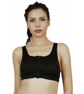 ARMR Women Black SPORT High-Impact Bra