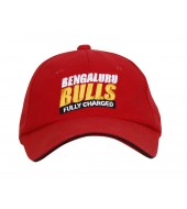 BENGALURU BULLS PREMIUM EMBROIDERED RED CAP