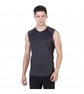 ARMR Men's Charcoal/Rust SPORT PERFORMANCE SINGLET
