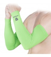 ARMR Unisex Pair of 2 NEON GREEN SKYN Arm Sleeves