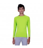 ARMR Junior Unisex NEON GREEN SKYN Full-Sleeve T-shirt