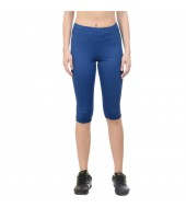 ARMR Women ROYAL BLUE SKYN 3/4th Capris