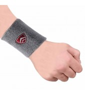ARMR Unisex Pair of GREY SPORT SWEATBAND Large 4""
