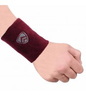 ARMR Unisex Pair of MAROON SPORT SWEATBAND Regular 3""
